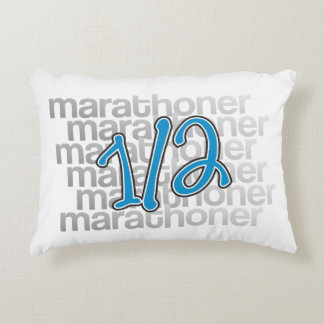 13.1 half marathoner accent pillow