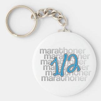 13.1 half marathoner basic round button keychain
