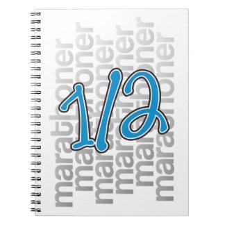 13.1 half marathoner notebook