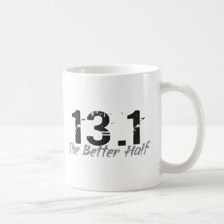13,1 La mejor mitad - medio corredor de maratón Taza De Café