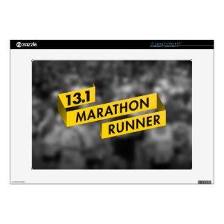"13.1 Marathon Runner Ribbon Yellow Skin For 15"" Laptop"