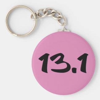 13,1 medio maratón llavero