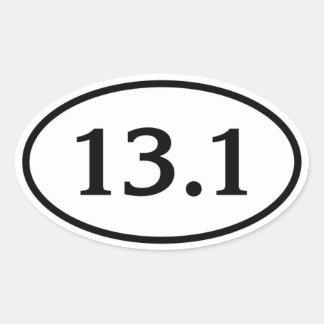 13 1 medio óvalo del maratón calcomania de óval personalizadas