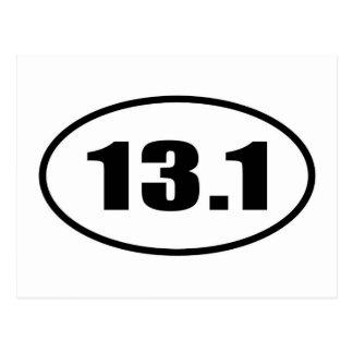 13,1 medio óvalo del maratón postales