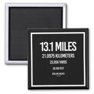 13-1 Mile Measurements -   Running Fitness -.png 2 Inch Square Magnet