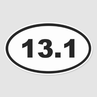 13.1 OVAL STICKER