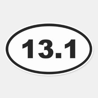 13,1 PEGATINA OVALADA