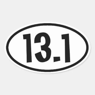 13 1 Pegatinas Calcomanías Ovaladas