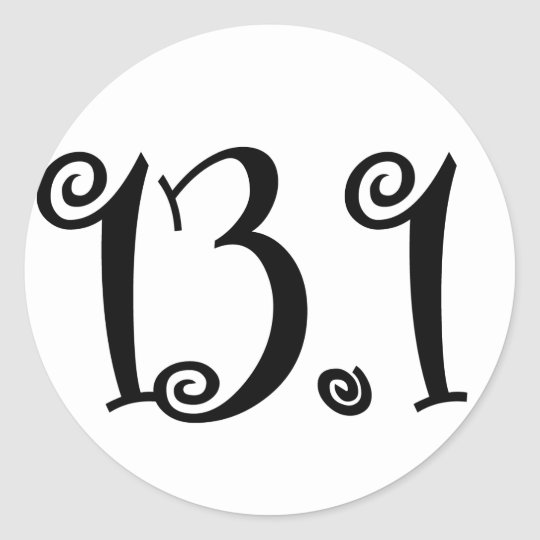 13.1 Runner Sticker