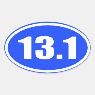 13 1 Texto blanco del pegatina en fondo azul