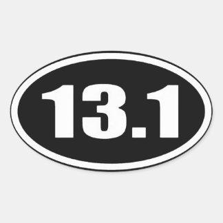 13,1 Texto blanco del pegatina en fondo negro