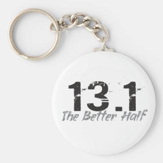 13.1 The Better Half - Half Marathon Runner Basic Round Button Keychain