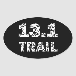 "13.1 Trail ""Rocks"" Sticker - White On Black"