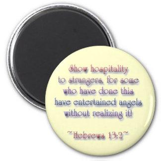 13:2 de los hebreos imán de frigorífico