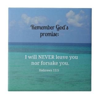 13:5 de los hebreos nunca le dejaré ni abandonaré… azulejos ceramicos