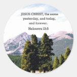 13:8 de los hebreos etiqueta redonda