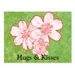 13 abrazos y besos tarjetas postales