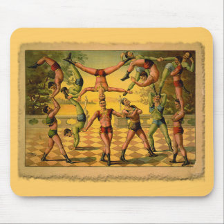 13 Acrobats Old Circus Poster on Tshirts Mouse Pad