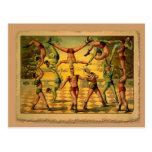 13 Acrobats Old Circus Poster on Tshirts Postcard