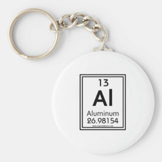 13 Aluminum Basic Round Button Keychain