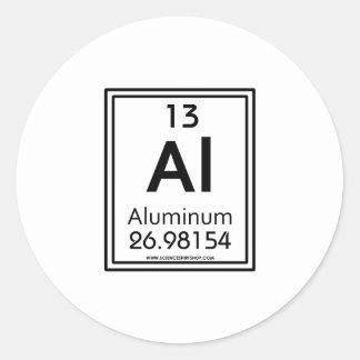 13 Aluminum Classic Round Sticker