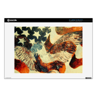 "13"" American Flag and Eagle Skin (Faded look) Decals For Laptops"