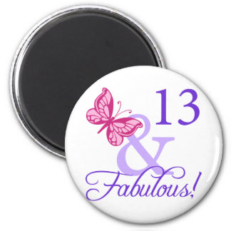 13 And Fabulous Birthday Magnets