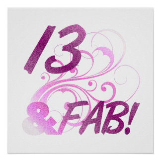 13 And Fabulous Birthday Posters