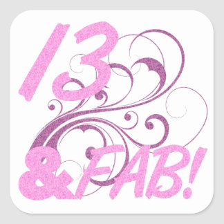 13 And Fabulous Birthday Stickers
