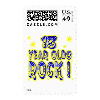 ¡13 años de la roca! (azul) sellos