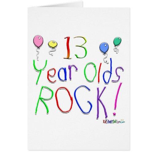 ¡13 años de la roca! Tarjeta de felicitación