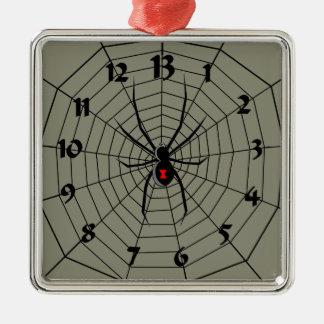 13 araña Clockface de trece horas Adorno Navideño Cuadrado De Metal