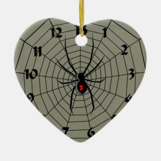 13 araña Clockface de trece horas Adorno Navideño De Cerámica En Forma De Corazón