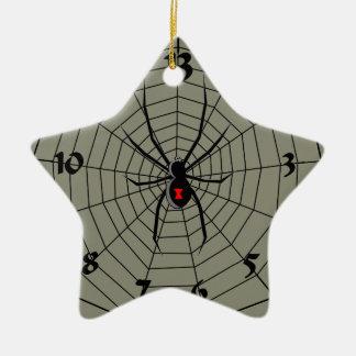 13 araña Clockface de trece horas Adorno Navideño De Cerámica En Forma De Estrella