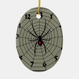13 araña Clockface de trece horas Adorno Navideño Ovalado De Cerámica