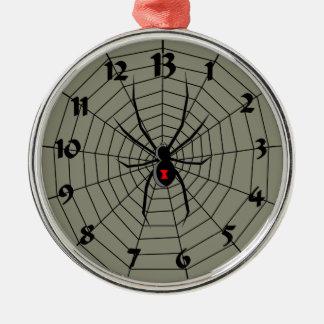 13 araña Clockface de trece horas Adorno Navideño Redondo De Metal