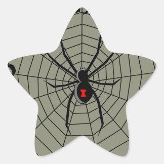 13 araña Clockface de trece horas Pegatina En Forma De Estrella