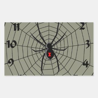 13 araña Clockface de trece horas Pegatina Rectangular