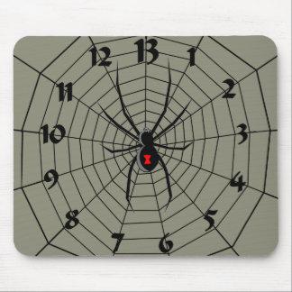 13 araña Clockface de trece horas Tapete De Ratón