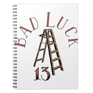 13 Bad Luck Spiral Notebook
