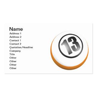 13 Ball Business Card