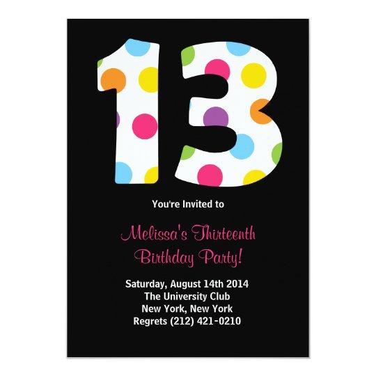 13 Birthday Party Invitation Zazzle Com