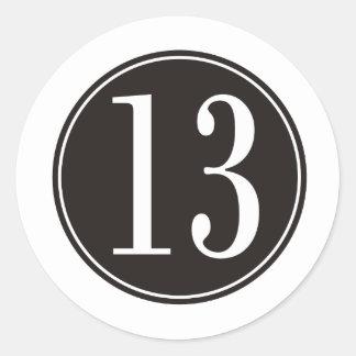 13 Black Circle front Round Sticker