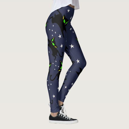 13 Black Kitties Twinkle Twinkle - Night Time Leggings