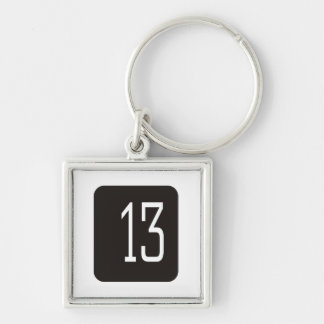 #13 Black Square Keychain