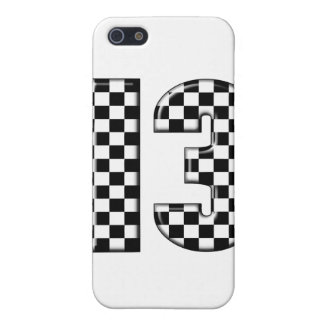 13 checkered auto racing number iPhone SE/5/5s case