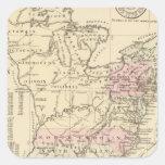 13 colonias 1776 pegatina cuadrada