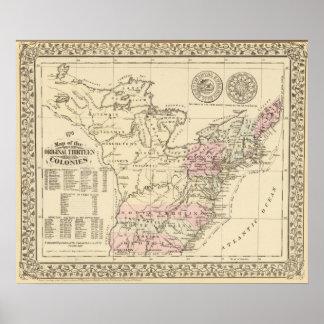 13 colonias 1776 póster
