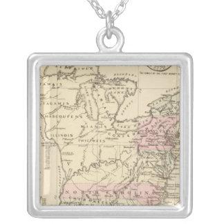 13 colonies 1776 square pendant necklace