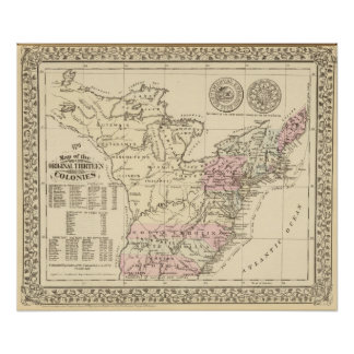 13 colonies 1776 poster